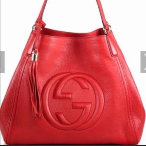 Gucci red leather Soho bag